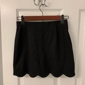 Topshop black scallop skirt